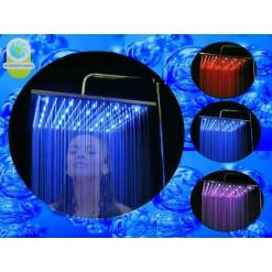 Душ с подсветкой  40х40 см (медный)