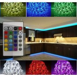Подсветка для кухни 5 метров многоцветная (IP 33) ИК-пульт