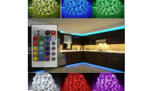 Подсветка для кухни 5 метров многоцветная (IP 20) ИК-пульт