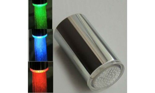 Насадка на кран с подсветкой (3 цвета) - латунь