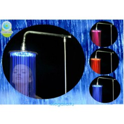 Душ с подсветкой d20 см (медный) с креплением