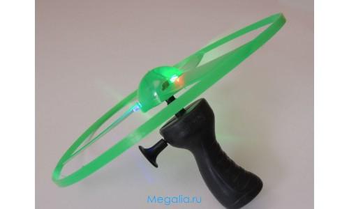 Летающая  светодиодная тарелка-вертолетик