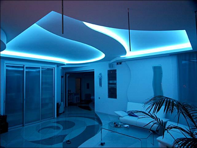 Красивое освещение комнаты своими руками 28