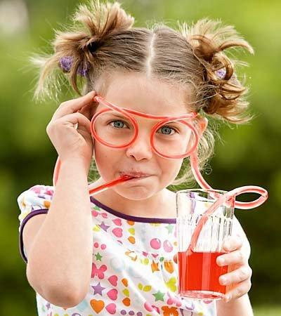 Питьевые очки - девочка
