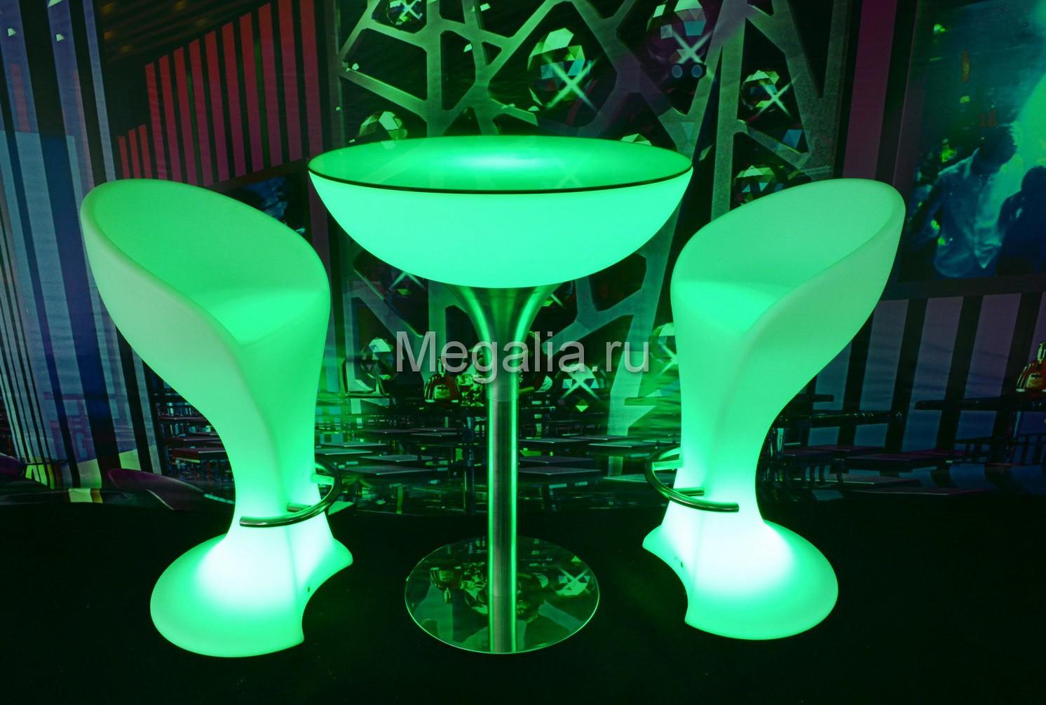"""Светящийся журнальный столик """"Martini"""""""