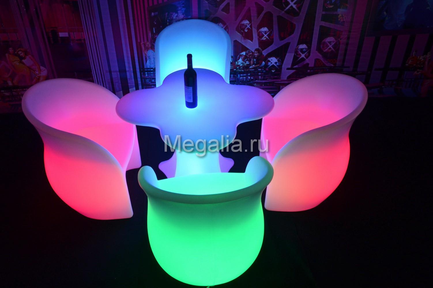 """Светящийся журнальный столик """"Blossom"""""""