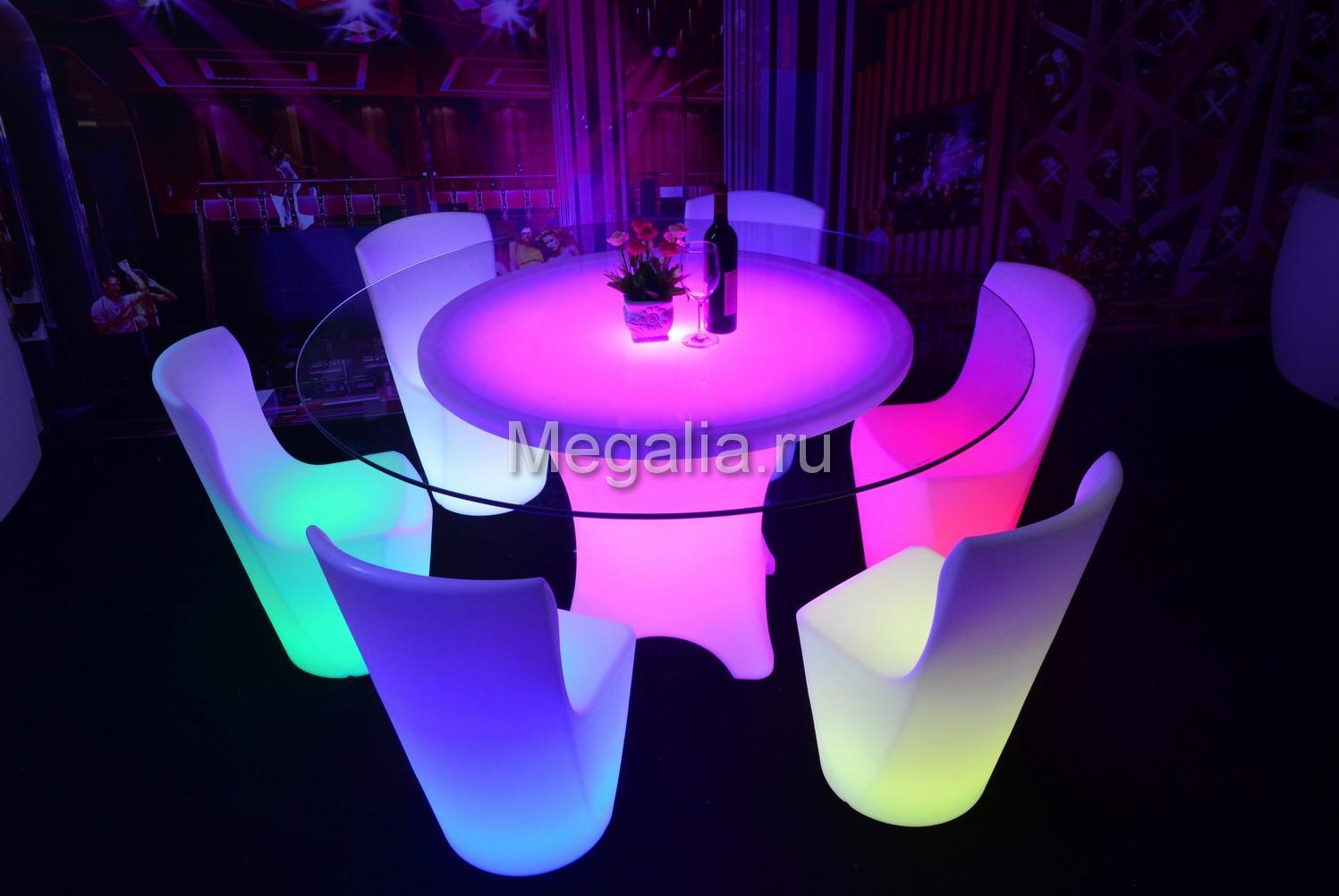 """Светящийся обеденный стол """"Round"""""""