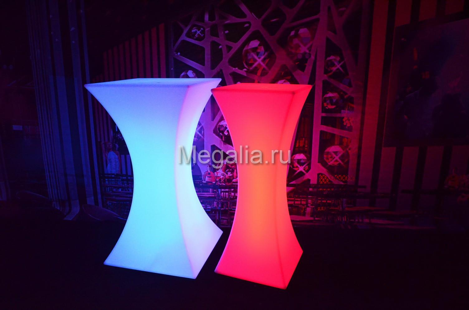 """Светящийся коктейльный стол """"Sandglassi II"""""""