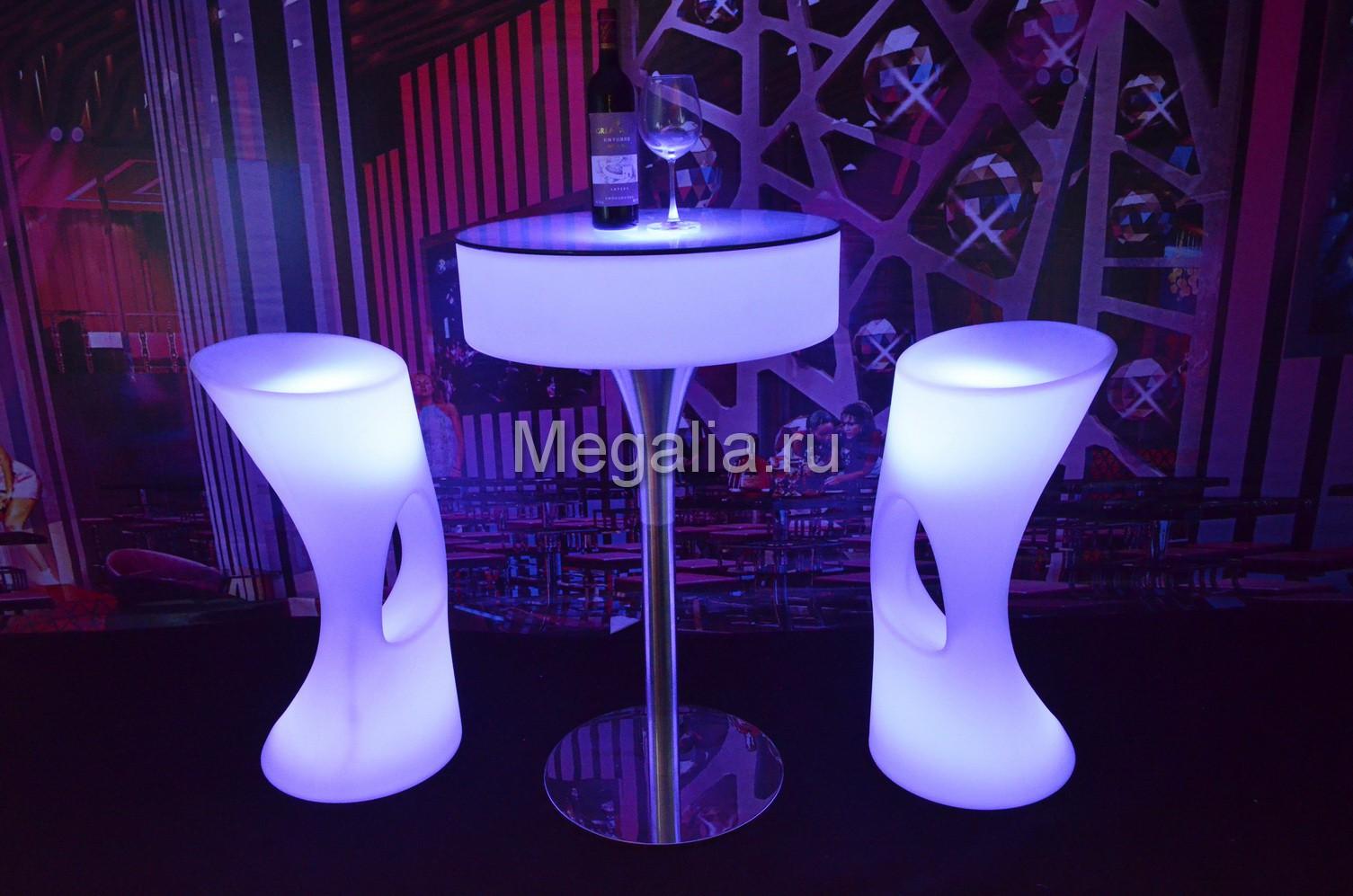 """Светящийся коктейльный стол """"Roll"""""""