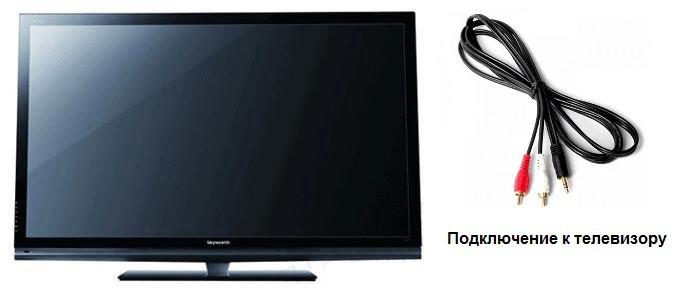 Подключение к телевизору