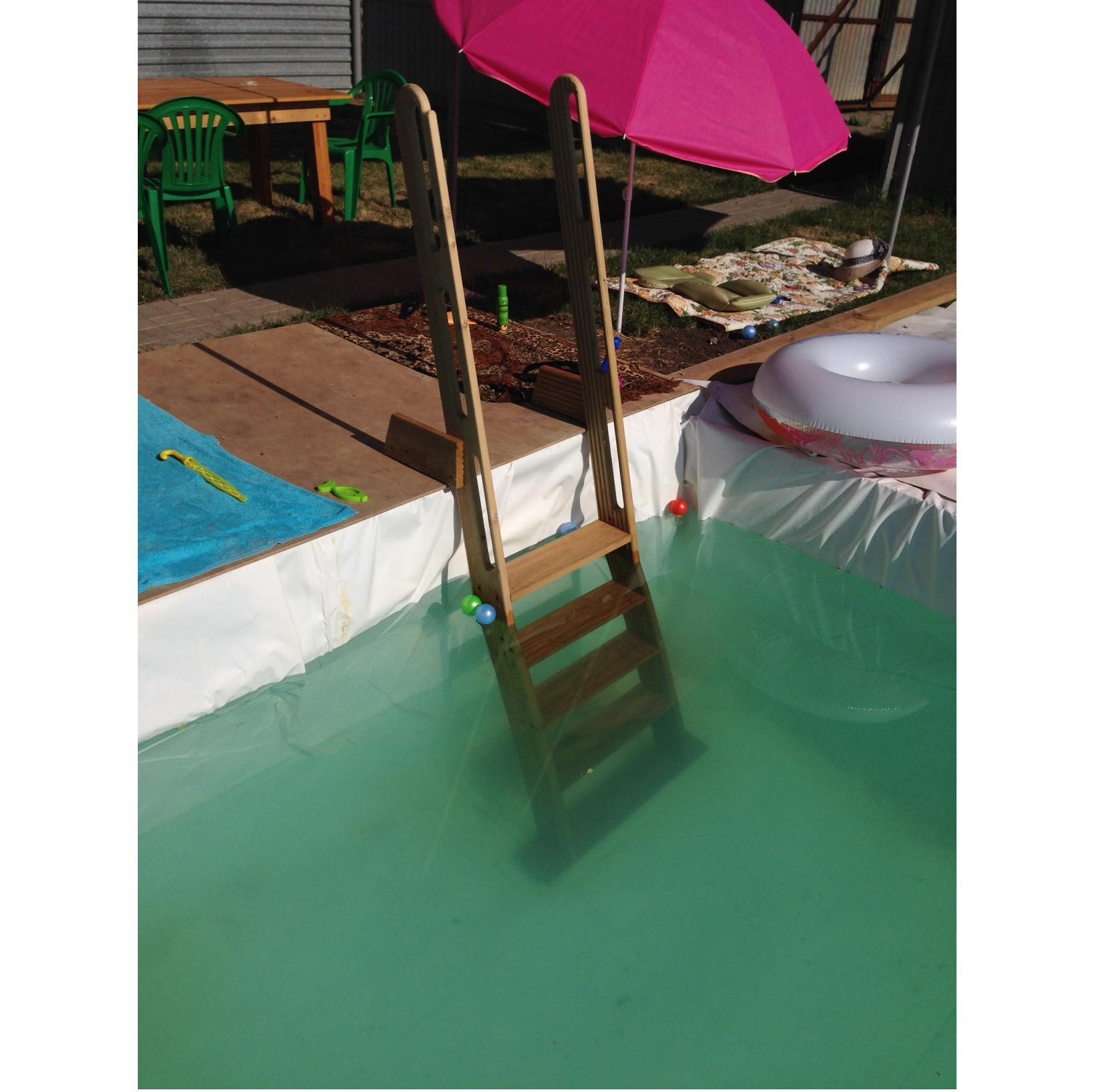 Лестница для бассейна своими руками из пластиковой трубы фото