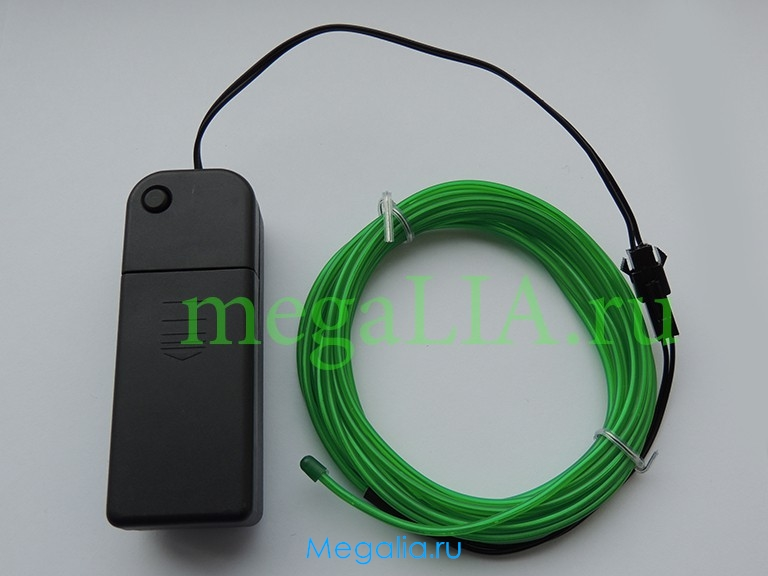 Неоновый шнур для гитары 3 метра, цвет зелёный