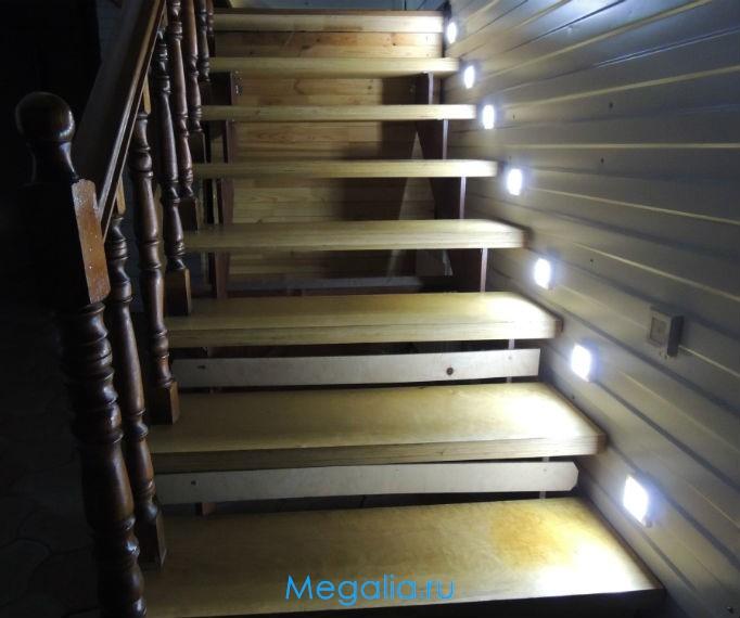 """Подсветка лестницы беспроводная """"Led stair S-5"""""""
